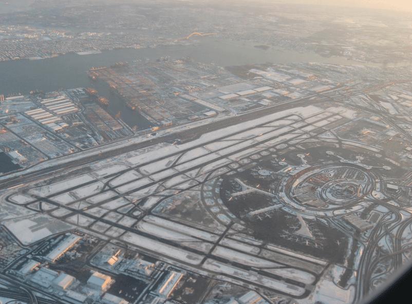 Newark Liberty Lufthavn som bl.a. SAS flyver meget til