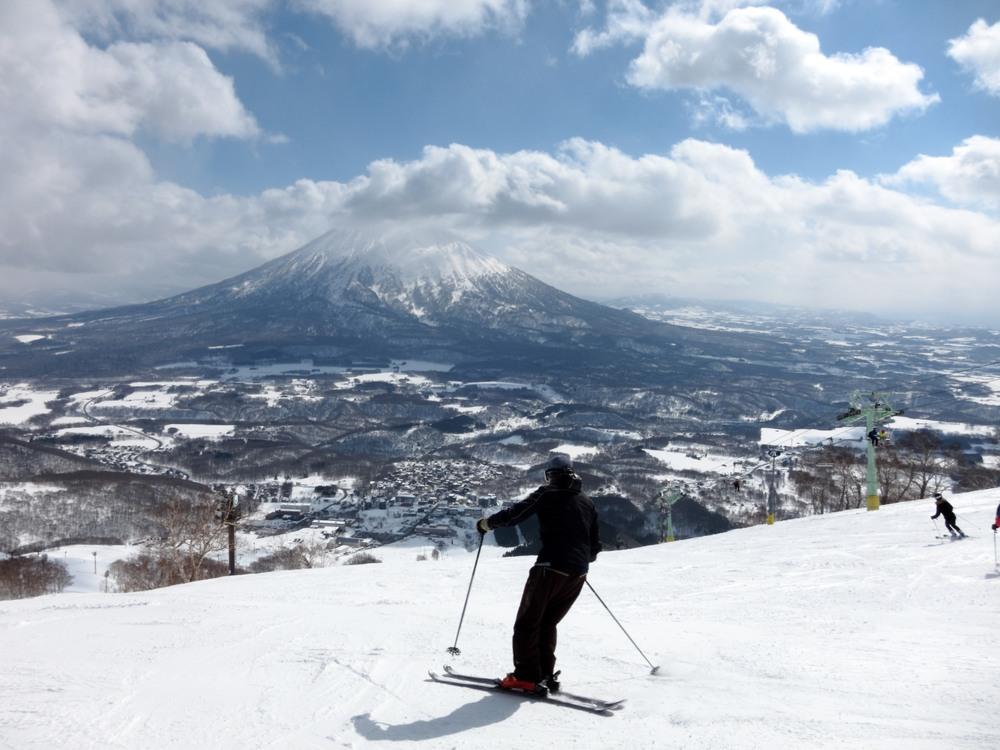 Udsigt fra bjerg i Hokkaido, Japan