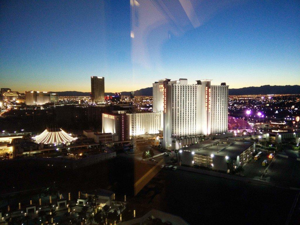 Udsigt fra hotel i Las Vegas