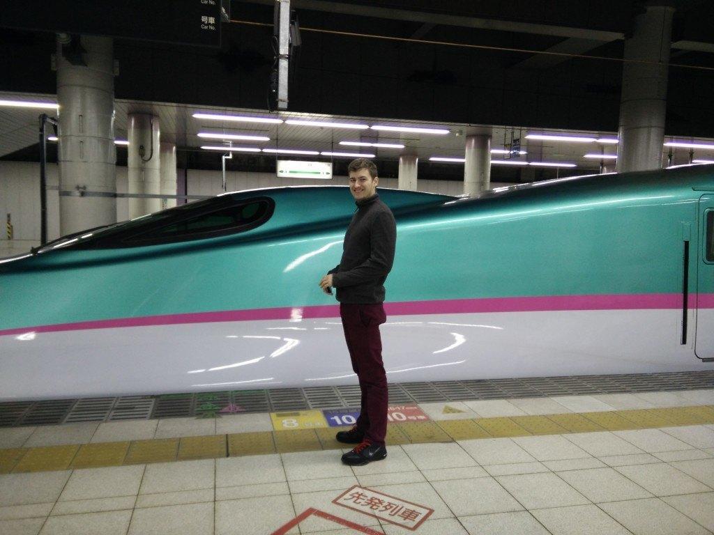 Shinkansen højhastighedstog i Tokyo