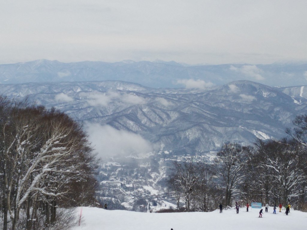 skiløbere i japan myoko kogen