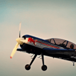 et lille propelfly i luften